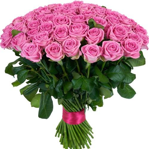 Купить на заказ Заказать Букет из 101 розовой розы с доставкой по Экибастузу с доставкой в Экибастузе
