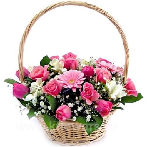 Купить на заказ Заказать Корзина с цветами 6 с доставкой по Экибастузу с доставкой в Экибастузе