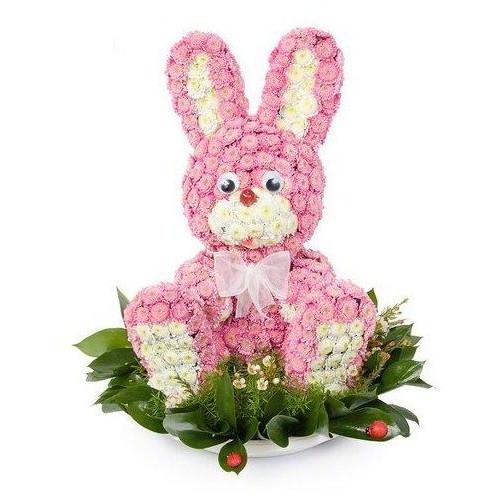 Купить на заказ Заказать Розовый зайчик с доставкой по Экибастузу с доставкой в Экибастузе