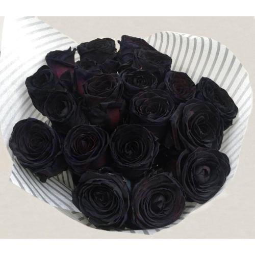 Купить на заказ Заказать 15 черных роз с доставкой по Экибастузу с доставкой в Экибастузе