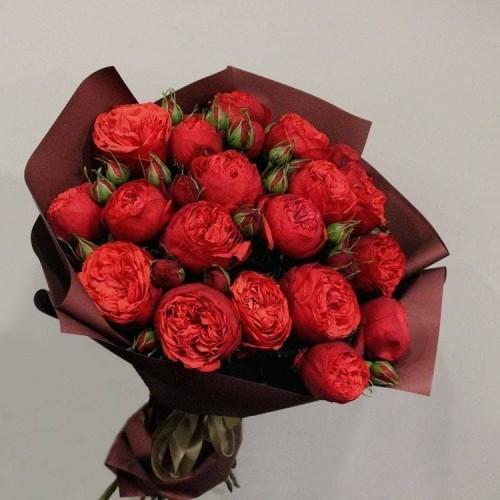 Купить на заказ Заказать 21 пионовидные розы с доставкой по Экибастузу с доставкой в Экибастузе