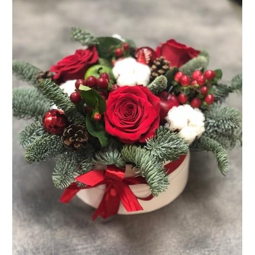 Купить на заказ Заказать Букет «Веселый Санта» с доставкой по Экибастузу с доставкой в Экибастузе