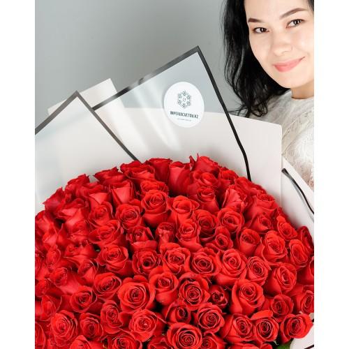 Купить на заказ Заказать Букет из 101 красной розы с доставкой по Экибастузу с доставкой в Экибастузе