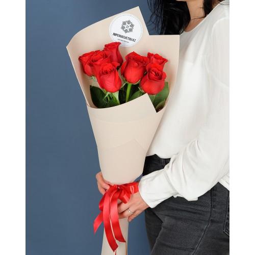Купить на заказ Заказать Букет из 7 роз с доставкой по Экибастузу с доставкой в Экибастузе