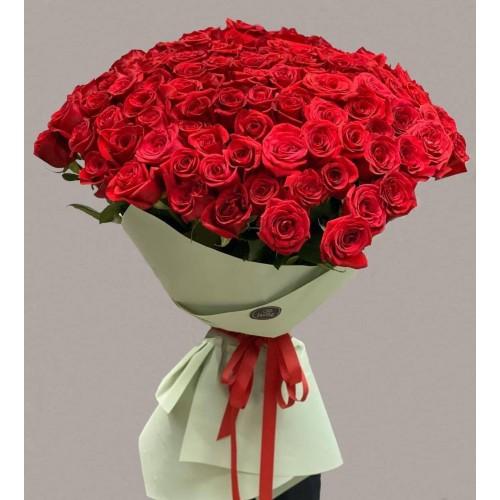 Купить на заказ Заказать 101 метровая роза с доставкой по Экибастузу с доставкой в Экибастузе