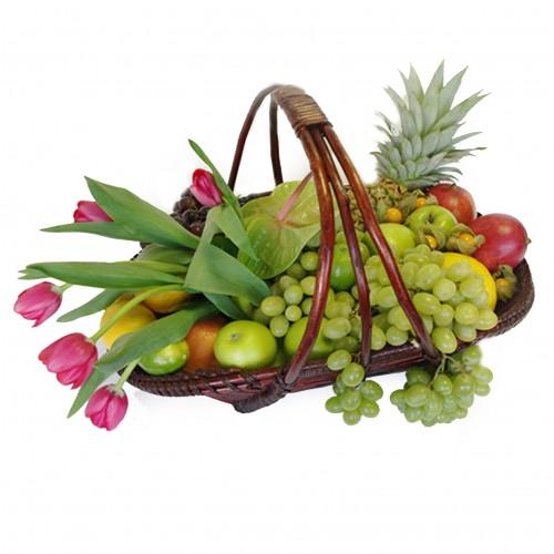 Купить на заказ Заказать Корзина с фруктами 3 с доставкой по Экибастузу с доставкой в Экибастузе